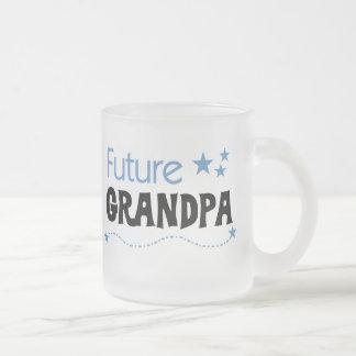 Camisetas y regalos futuros del abuelo taza cristal mate