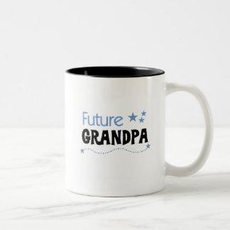 Camisetas y regalos futuros del abuelo taza dos tonos