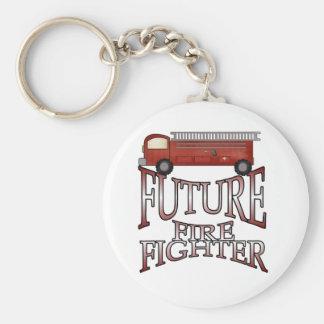 Camisetas y regalos futuros del bombero del coche  llavero redondo tipo pin