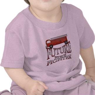 Camisetas y regalos futuros del bombero del coche