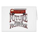 Camisetas y regalos futuros del bombero del coche  felicitación