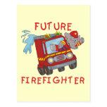 Camisetas y regalos futuros del bombero del elefan tarjeta postal