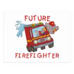 Camisetas y regalos futuros del bombero del elefan tarjetas postales