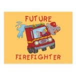 Camisetas y regalos futuros del bombero del elefan postales