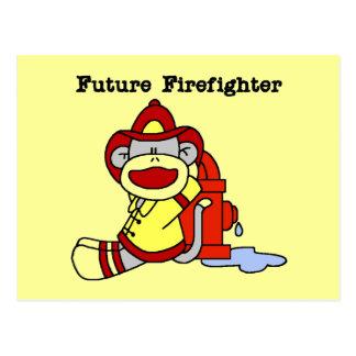 Camisetas y regalos futuros del bombero del mono postales