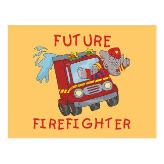 Camisetas y regalos futuros del bombero del tarjeta postal