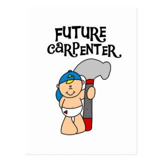 Camisetas y regalos futuros del carpintero del postal