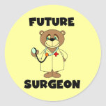 Camisetas y regalos futuros del cirujano etiquetas redondas