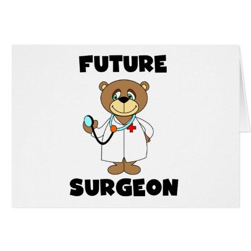 Camisetas y regalos futuros del cirujano tarjetón