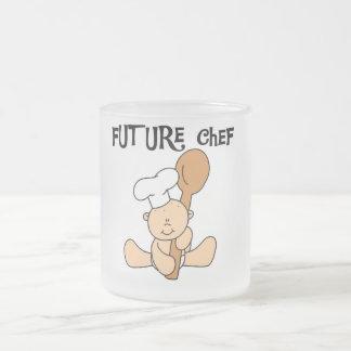 Camisetas y regalos futuros del cocinero del bebé taza cristal mate