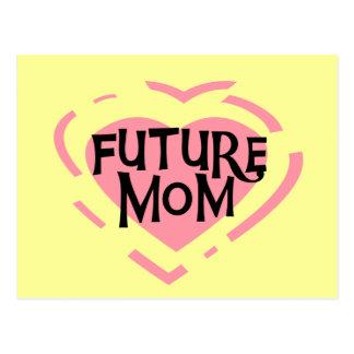 Camisetas y regalos futuros del corazón del rosa postal
