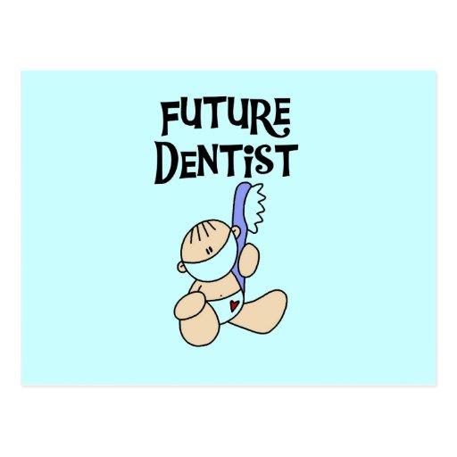 Camisetas y regalos futuros del dentista del bebé postal