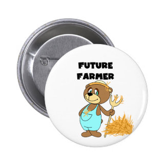 Camisetas y regalos futuros del granjero del oso pins