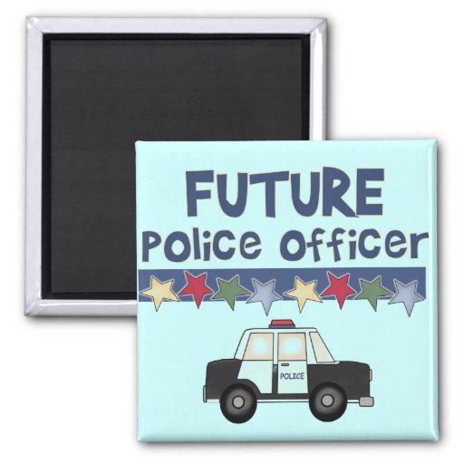 Camisetas y regalos futuros del oficial de policía iman de nevera