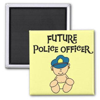 Camisetas y regalos futuros del oficial de policía imán cuadrado