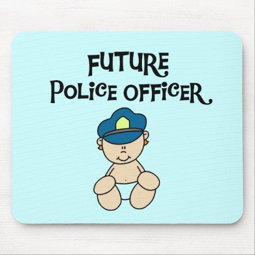 Camisetas y regalos futuros del oficial de policía tapete de raton
