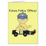 Camisetas y regalos futuros del oficial de policía felicitación
