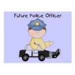 Camisetas y regalos futuros del oficial de policía tarjeta postal