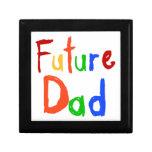 Camisetas y regalos futuros del papá del texto del caja de recuerdo