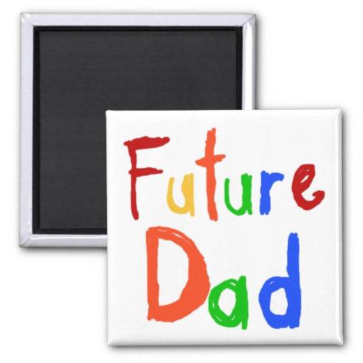 Camisetas y regalos futuros del papá del texto del iman