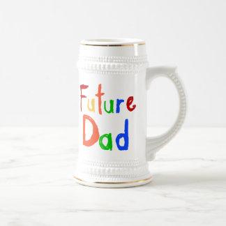 Camisetas y regalos futuros del papá del texto del jarra de cerveza