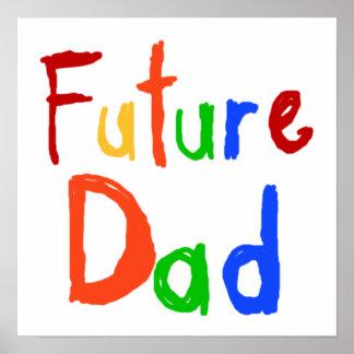 Camisetas y regalos futuros del papá del texto del impresiones