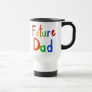 Camisetas y regalos futuros del papá del texto del tazas de café