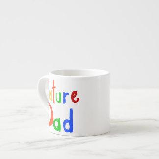 Camisetas y regalos futuros del papá del texto del tazita espresso