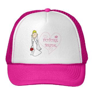 Camisetas y regalos futuros rubios de la novia gorros bordados