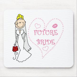 Camisetas y regalos futuros rubios de la novia mousepad