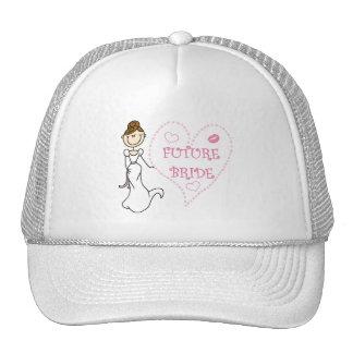 Camisetas y regalos futuros triguenos de la novia gorros bordados