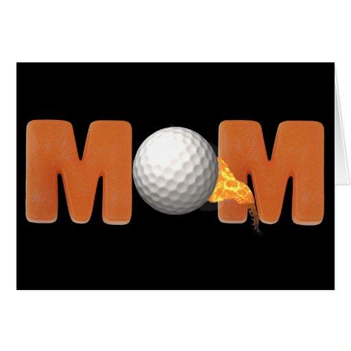 Camisetas y regalos Golfing para la mamá Tarjeton