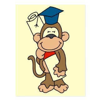 Camisetas y regalos graduados del mono tarjetas postales
