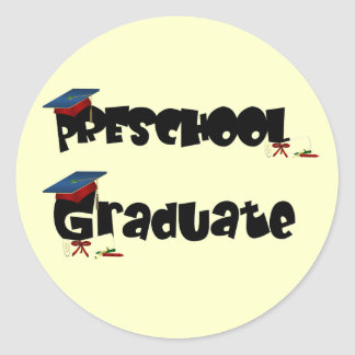 Camisetas y regalos graduados del preescolar pegatina redonda