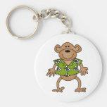 Camisetas y regalos hawaianos tropicales del mono llavero personalizado