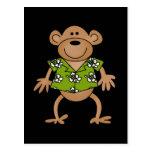 Camisetas y regalos hawaianos tropicales del mono postal