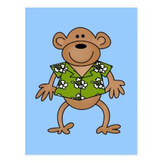 Camisetas y regalos hawaianos tropicales del mono postales