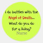 Camisetas y regalos hilarantes de la enfermera pegatinas