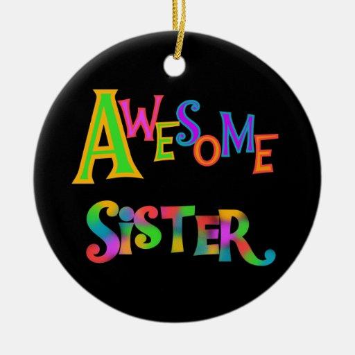 Camisetas y regalos impresionantes de la hermana adornos de navidad