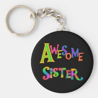Camisetas y regalos impresionantes de la hermana llavero redondo tipo pin
