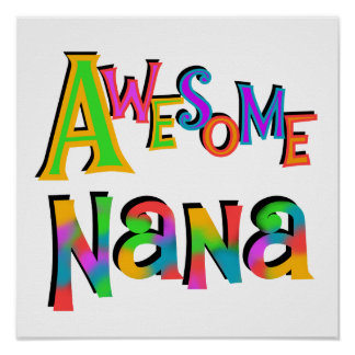 Camisetas y regalos impresionantes de Nana Impresiones