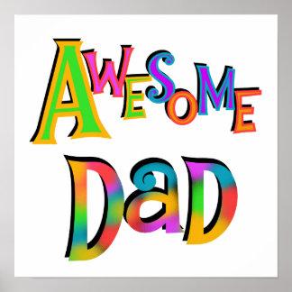 Camisetas y regalos impresionantes del papá poster
