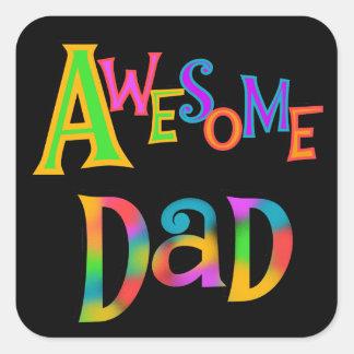 Camisetas y regalos impresionantes del papá pegatina cuadrada