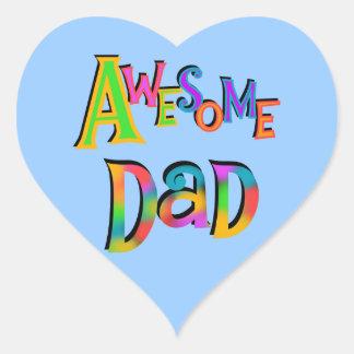 Camisetas y regalos impresionantes del papá pegatina en forma de corazón