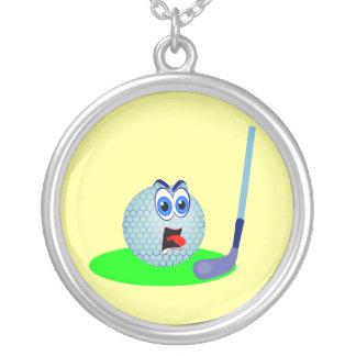 Camisetas y regalos infelices de la pelota de golf colgante redondo