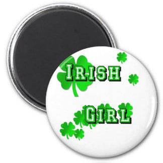 Camisetas y regalos irlandeses del chica imán redondo 5 cm