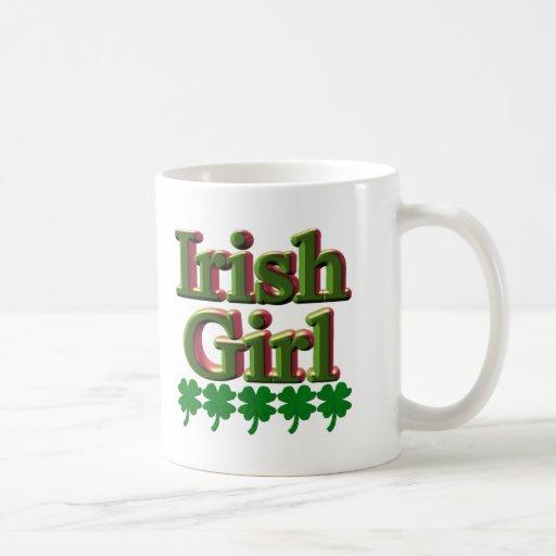Camisetas y regalos irlandeses del chica tazas
