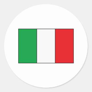 Camisetas y regalos italianos de la bandera pegatinas redondas
