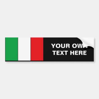 Camisetas y regalos italianos de la bandera pegatina para auto