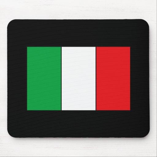 Camisetas y regalos italianos de la bandera tapetes de ratón